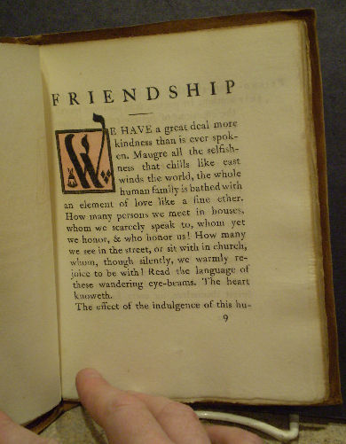 essay on a friendship